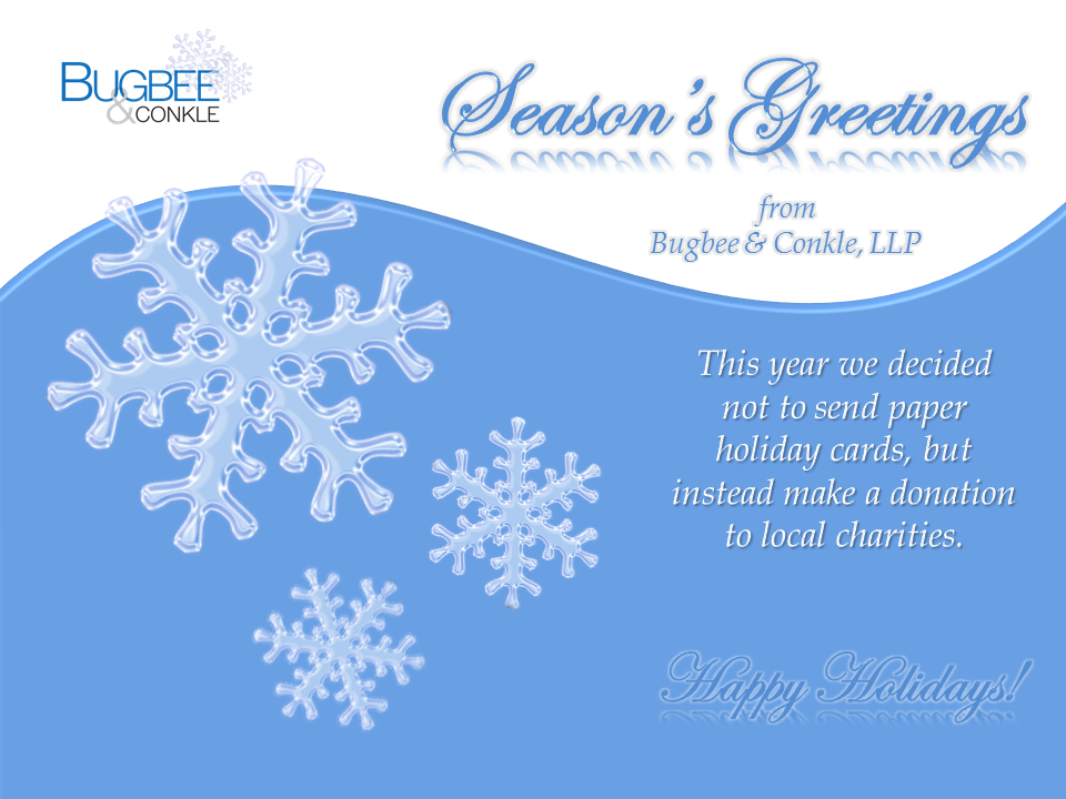 Holiday Greeting-Bevel