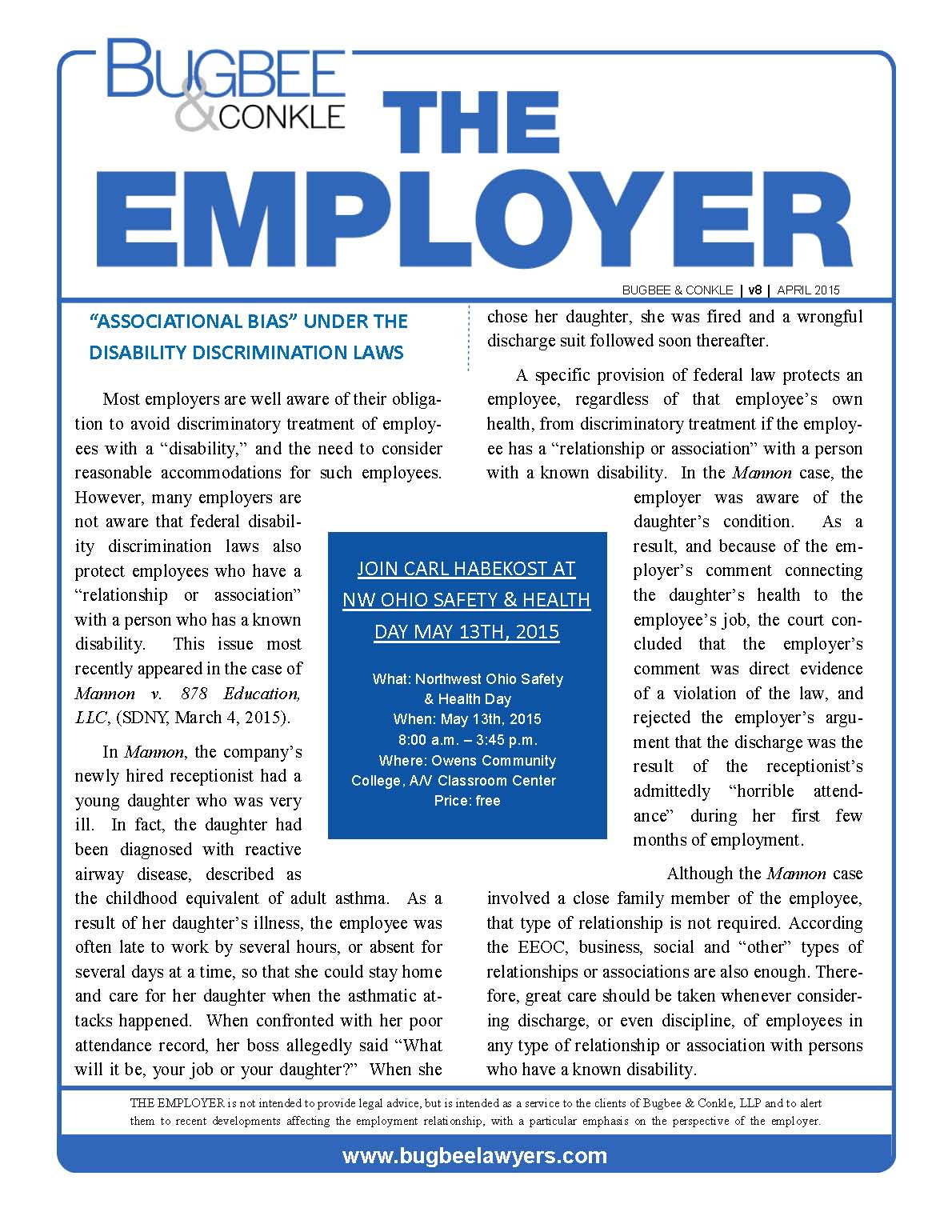 The Employer Vol. 8 No. 2
